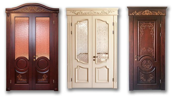 современые красивые металлические двери из массива